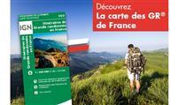 CARTOGRAPHIE : La carte IGN des itinéraires de Grande Randonnée  GR® rééditée