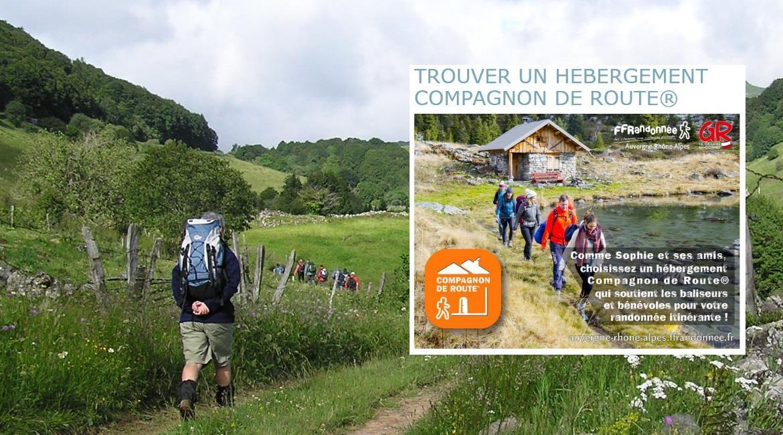 Les hébergeurs Compagnons de Route® en Auvergne-Rhône-Alpes
